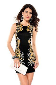 Dear-Lover Women Stretchy Foil Printing Bodycon Fashion Vintage Dress,Black,Dear-Lover http://www.amazon.com/dp/B00ORFGOE0/ref=cm_sw_r_pi_dp_65Juub1TK4A3N