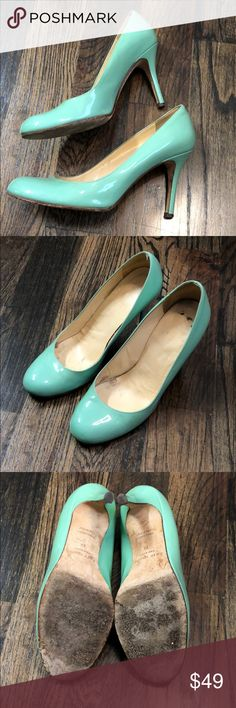 "Kate Spade Carolina Sea Foam Green Pumps heels These fabulous spring colored pumps would look amazing with graduation dresses, wedding guest dresses, or a spring look for the office. Heel is 3.5"" in height. Check out my other Kate Spade listings! kate spade Shoes Heels"