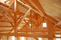 Timber Frame Gallery of Trusses   New Energy Works