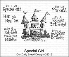 Our Daily Bread Designs January 2013 Release SPECIAL GIRL