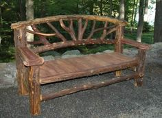rustic cedar bench - Google Search