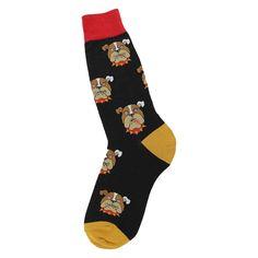 Purple Leopard Boutique - Foot Traffic Bull Dog Socks Black Novelty Footwear, $13.00 (http://www.purpleleopardboutique.com/foot-traffic-bull-dog-socks-black-novelty-footwear/)