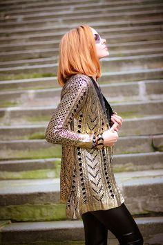 Golden knight (of Cydonia) | gvozdiShe Golden Knights, Personal Style, Dress Up, Dresses With Sleeves, Clothes For Women, Knitting, Long Sleeve, Pretty, Blog