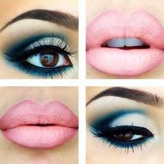 I'm not one for blue eye shadow and brown eyes, but this is so gorgeous!