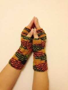 Colorful Fingerless Gloves Armwarmers Hand Knit Chic Winter Accessories Winter Fashion, valentine's day