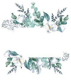 Фотография Flower Background Wallpaper, Framed Wallpaper, Flower Backgrounds, Wallpaper Backgrounds, Watercolor Flowers, Watercolor Art, Molduras Vintage, Floral Border, Border Design
