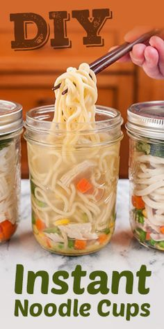 How To Make DIY Instant Noodle Cups.  Everything looks better in jars.