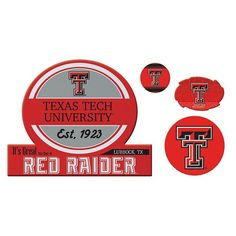 Texas Tech Red Raiders Game Day 4-Piece Magnet Set, Multicolor