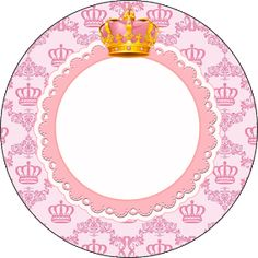 Fiestas Personalizadas Imprimibles: Kit imprimible Gratis de corona rosa. Imprimibles Baby Shower, Pink Crown, Princess Theme, Art N Craft, All That Glitters, Silhouette Design, 2nd Birthday, Girly Things, Decoration