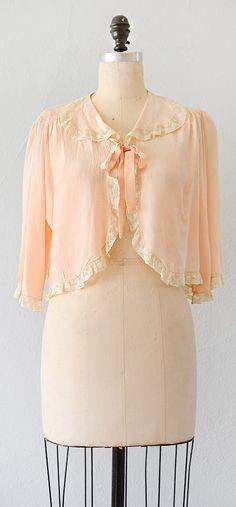 Vintage 1930s bed jacket.