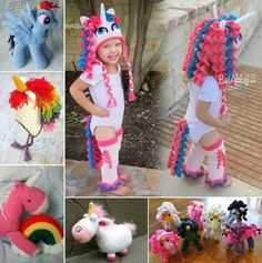 My pony/unicorn beanies