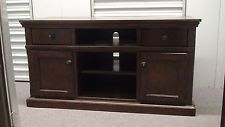Cherry Finish 55-Inch TV Stand Entertainment Center Wood Media Storage Cabinet