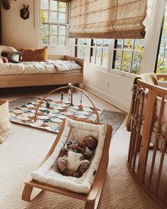 Sunday kind of feeling 🌾 Prairie loving her rocker and golden slumbers in the nursery 💫💫💫 Baby Nursery Decor, Baby Bedroom, Baby Decor, Nursery Room, Girl Room, Kids Bedroom, Boho Nursery, Nursery Inspiration, Hygge