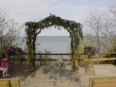 This was the arbor on the day of the wedding!