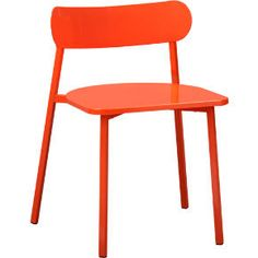 fleet hot orange chair in dining chairs, barstools | CB2 $149