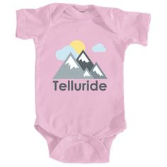 Telluride, Colorado Mountains and Clouds in Color - Infant Onesie/Bodysuit