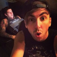 Alex:taking selfie Zack: me at this very moment looking at Alex taking a selfie..