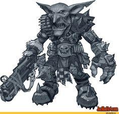 Warhammer 40000,warhammer40000, warhammer40k, warhammer 40k, ваха, сорокотысячник,фэндомы,gretchin,Orks