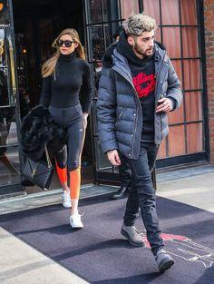 Zayn Malik and Gigi Hadid Out in NYC January 2016   POPSUGAR Celebrity