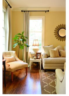 I Love These Curtains   Simple, Out Of The Way, Would Work In Our · Young  House Love Living RoomYellow ... Part 69
