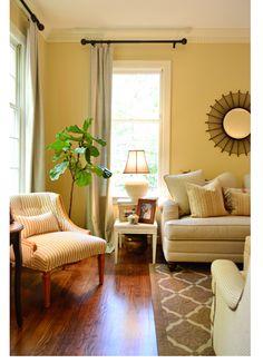 Yellow living room design ideas | Fireplaces, Light yellow walls ...