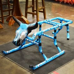 This painted PVC roping dummy is big enough to hold a regular size dummy head and light enough to take with you. Hind legs swing for heelers to practice timing. Bring one to every roping or to a friend's place and be center of attention.