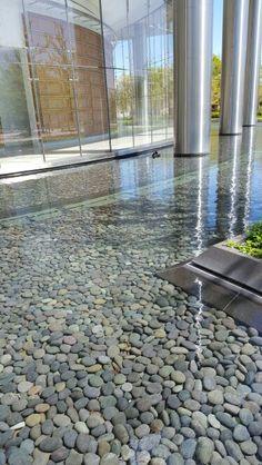 Reflecting pool at Devon Tower