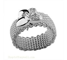 Tiffany and Co Outlet Mesh ring with butterfly! I want!! Mom xmas??