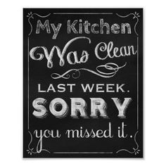 Great chalkboard art for the kitchen!  You can customize this print in order to have them your way: larger, smaller, with text, and many other options.   Original art Copyright © Tina Lavoie. All rights reserved.