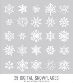 Copos de nieve digitales pincel photoshop vector por summitavenue