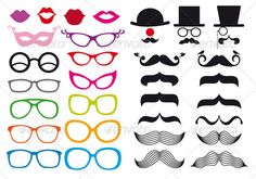 Mustache And Spectacles Templates