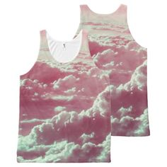 in the clouds pink All-Over-Print tank top - #customizable create your own personalize diy