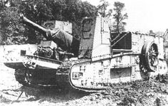 Gun Carrier Mk I has got 127 mm gun but it never took apart in any battle during the WWI