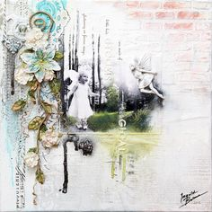 """Magical Things"" - canvas with Prima.  BRAND NEW Shabby Chic Resin Treasure - ""Fairies"", from my Prima summer 2012 release."