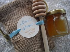 Cute idea for wedding favors.  Especially if you fill it with local, organic honey!