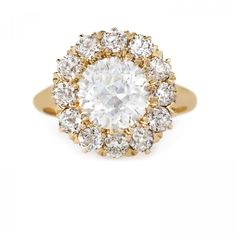 New Bond Street is an incredible Victorian era yellow gold cluster ring centering a EGL certified Old European Cut diamond. Hexagon Engagement Ring, Engagement Rings, Diamond Cluster Ring, Diamond Earrings, Bond Street, European Cut Diamonds, Diamond Cuts, Victorian, Gold