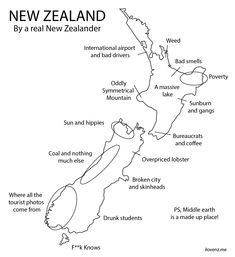 """We've all heard it before: """"New Zealand is the perfect country,"""" """"Nothing ever goes wrong in NZ,"""" """"Do you guys have TV?"""" or """"I can't wait to see middle earth""""… It's enough to make a real kiwi shudder. We created this post from a true kiwi's view of New Zealand."""