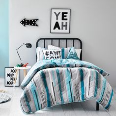 Adairs Kids Flynn Quilted Bedlinen - Bedroom Quilt Covers & Coverlets - Adairs Kids online
