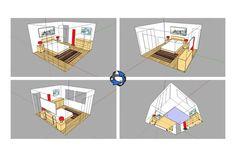 O blog oficial do SketchUp deu dicas para a melhor visualização de espaços compactos. O tutorial de Aidan Chopra torna o processo muito simples.