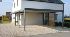 Carport & Überdachung - Creativ Zaun Design GmbH Carport Modern, Carports, Modern House Design, Garage Doors, Outdoor Decor, Furniture, Home Decor, Google, Blog