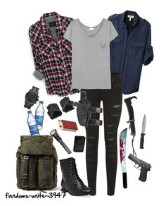"""If I was in Walking Dead."" by fandoms-unite-3947 on Polyvore featuring Rails, Gerber, Étoile Isabel Marant, Parisian, Yves Saint Laurent, Wet Seal, OKA, Michael Kors and Dolce&Gabbana"