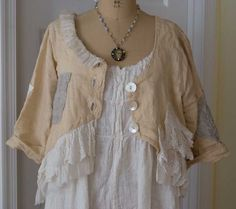 Magnolia Pearl Handbags Jewelry | Magnolia Pearl Linen Hazel Jacket in Vanilla (sold), also available in ...