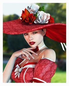 hats, la modist, fashion, style, chapeaux, beauti, red hat, ladi, mad hatter