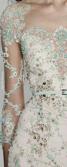 Absolutely beautiful, intricate Ellie Saab details.