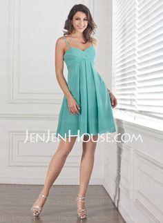Bridesmaid Dresses - $87.99 - Empire Sweetheart Knee-Length Chiffon Bridesmaid Dresses With Ruffle (007001460) http://jenjenhouse.com/Empire-Sweetheart-Knee-length-Chiffon-Bridesmaid-Dresses-With-Ruffle-007001460-g1460