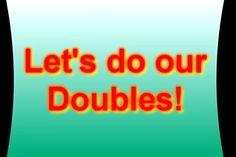 "Practice math facts with ""Let's do our doubles"" video. Math For Kids, Fun Math, Math Activities, Addition Activities, Math Resources, Maths, Math Classroom, Kindergarten Math, Teaching Math"