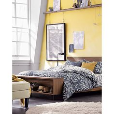 Atwood Bed, Bottna linens| Crate and Barrel