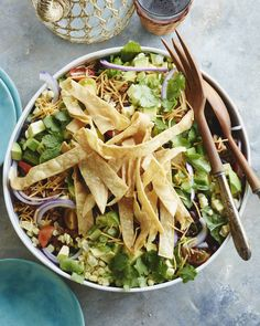 Taco Salad. (Make with Shredded or chopped chicken)