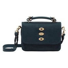 Mulberry - Small Bryn in Petrol Grainy Print Leather Mulberry Purse, Fendi, Leather Bag, Tory Burch, Dior, Chanel, Louis Vuitton, Shoulder Bag, Handbags