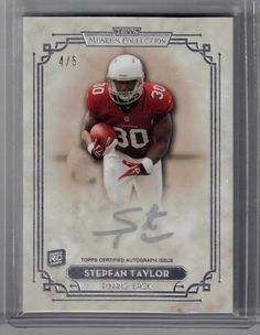 2013 Topps Museum Collection Stepfan Taylor Silver Auto Rookie Card #4/5 Arizona